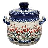 New Polish Pottery GARLIC KEEPER Boleslawiec CA Pattern 1437 European Stoneware