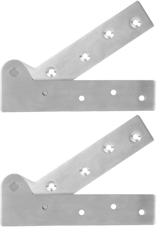 2Pcs Stainless Steel Hinge 180 Degrees Rotation Door Shaft Hinge Furniture Hardware Accessories Atyhao Door Hinge