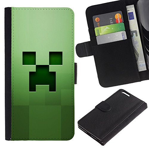 GIFT CHOICE / Smartphone Leather Wallet Case Housse coque Couvercle de protection Étui Couverture pour Apple Iphone 6 PLUS 5.5 // Fluage Vert //
