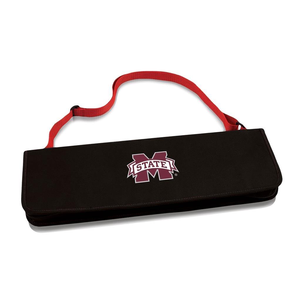 NCAAミシシッピ州ブルドッグMetro 3ピースBBQツールセットin Carryケース   B002QXFG8A