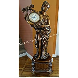 Gorgeous Beautiful Lady Floor Standing Grandfather Clock Distressed Hand Painted