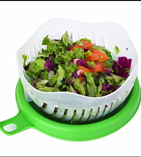 Salad Cutter Bowl, 60 Seconds Salad Cutter Bowl, Vegetable Cutter Bowl Salad Chopper Vegetable and Fruit Salad Maker Chopper All in One Salad Maker Bowl Easy to Use Upgraded Version