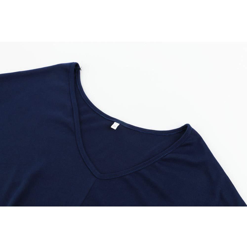 Luckycat Camiseta de Manga Larga con Cuello en V y Manga Larga para Mujer: Amazon.es: Ropa y accesorios