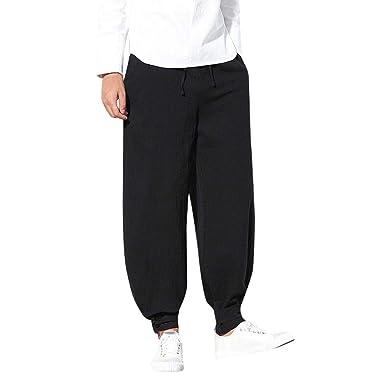 ee35c0f5dab39 Amazon.com: Usstore Men's Loose Baggy Pants Harem Lightweight ...