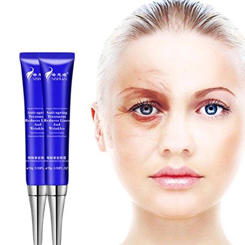 (Lotus.flower Rapid Wrinkle Repair Anti-Wrinkle Eye Cream,Anti-aging Anti-Wrinkle Dark Circle Remover Moisturizer Eye Cream 15g (15g))