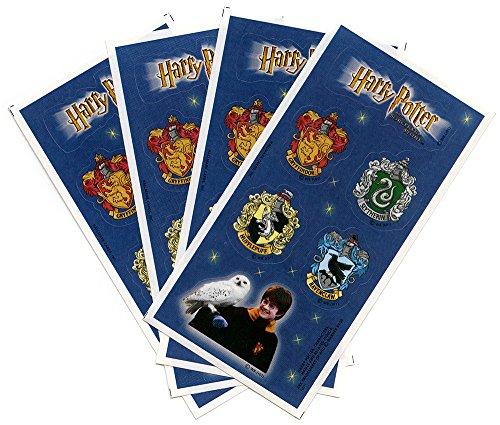 Harry Potter Houses of Hogwarts Crests Stickers Sorcerer's Stone