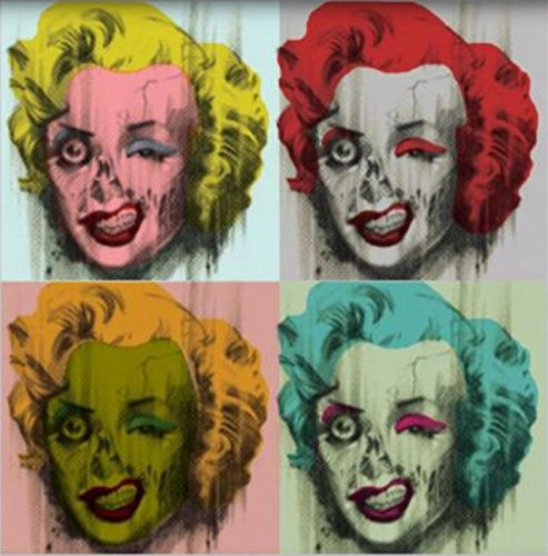 (Marilyn Monroe Zombie by Stephen Fishwick Hollywood Movie Star Icon Pop Art Poster 24x24)