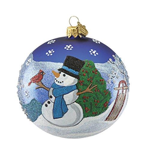 Reed & Barton Snowman Ball Ornament Reed & Barton Snowman