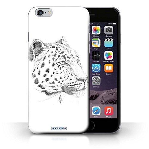 Hülle Case für iPhone 6+/Plus 5.5 / Leopard Entwurf / Skizze Zeichnung Collection