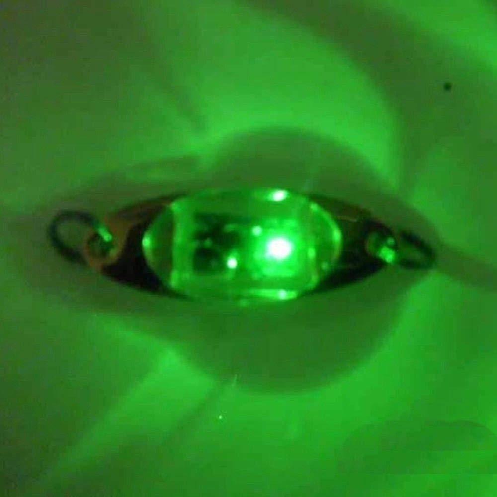 Doubleer LED Unterwasser Auge geformte Fischen K/öder Licht Blinkende Lampe Fisch Attraktoren