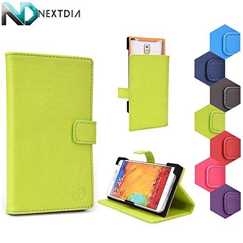 Intex Aqua 5.0 Case Stand with Quick Camera Access   Acid Berry Green + NEXTDIA Velcro Cable Tie