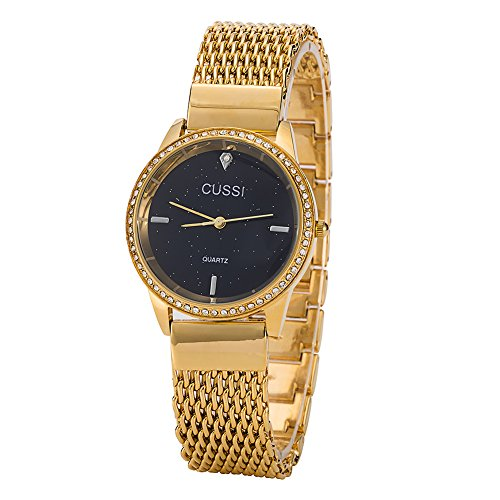 Ladies Star Mesh Bracelet Dress Wrist Watch for Women – Female Gold, Rose Gold, Silver