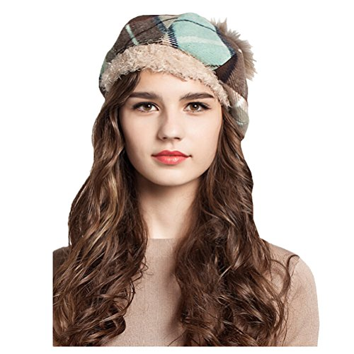 "Maitoseâ""¢ Women's Wool Scottish Plaid Beret Blue"