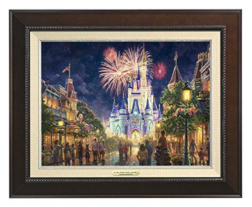 Thomas Kinkade Canvas Classic Main Street U.S.A. Walt Disney World Resort - 12''x 16'' - Espresso Frame - 66841