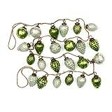 Creative Co-Op XM1421 Winter Wonderland 72'' L Mercury Glass Ornament Garland, Mint/Green