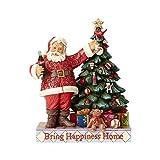 Enesco Coca-Cola by Jim Shore 4059472 Coke Santa with Tree Figurine