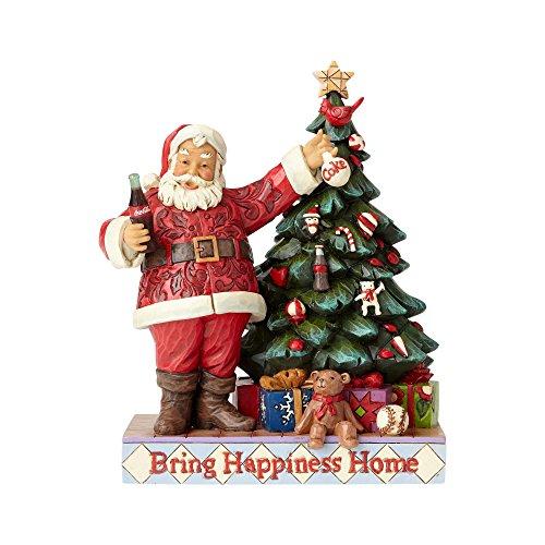 Enesco Coca-Cola by Jim Shore 4059472 Coke Santa with Tree Figurine from Coca-Cola