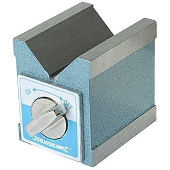 70 x 60 x 70 mm Silverline 244994 Magnetic V-Block