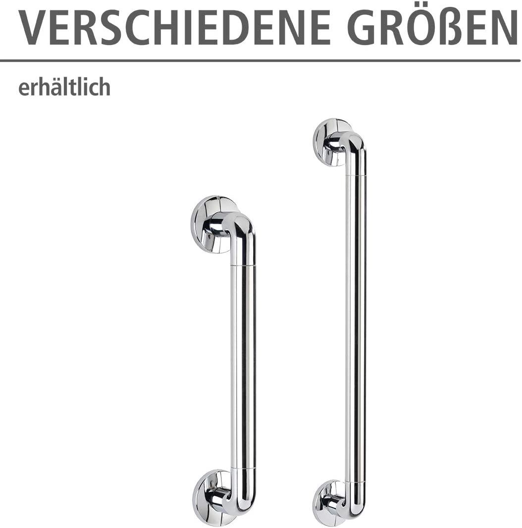 43 x 7 x 8 cm f/ür sicheren Halt in Dusche WENKO Wandhaltegriff Secura 43 cm lang aus rostfreiem Aluminium /& Kunststoff Badewanne und an der Toilette stabiler Haltegriff zum Bohren Chrom