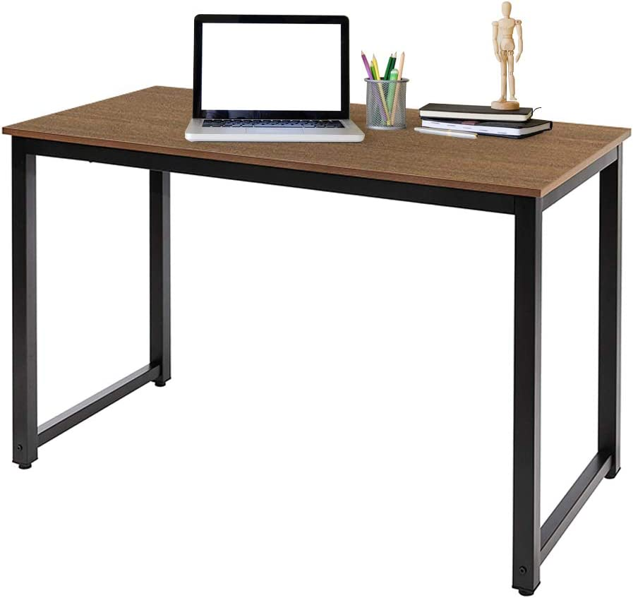 AZ L1 Life Concept, Natural, 55 Modern Studio Collection Soho Rectangular Computer Table, Brown, 55inch