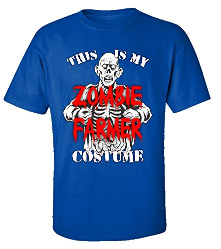 Halloween This Is My Zombie Farmer Scary Creepy Costume - Adult Shirt Xl Royal