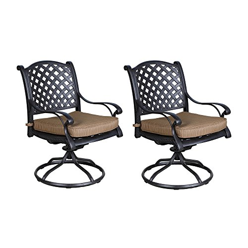- iPatio Sparta Dining Swivel Rocker Chairs with Cushion - Quality Furniture (Set of 2)