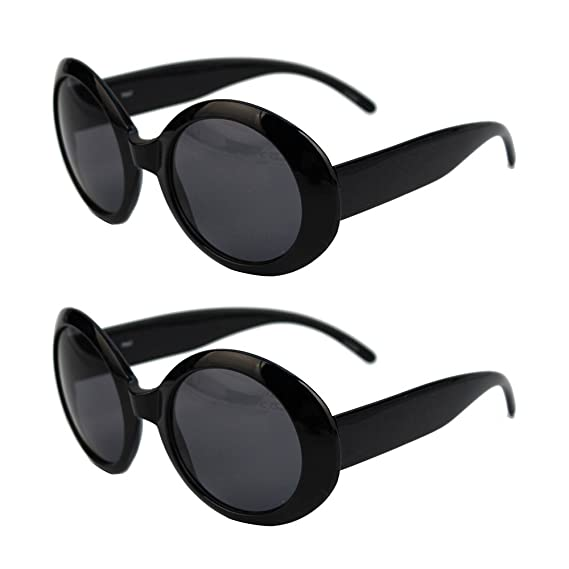 67e9f6086f7 Womens Fashion Circle Round Jackie O Bold Chic Sunglasses (2 Pc  Black-Smoke)  Amazon.ca  Clothing   Accessories