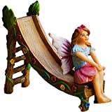 Mood Lab Fairy Garden Accessories Kit - Miniature Figurines Slide Set of 2 pcs Outdoor House Decor