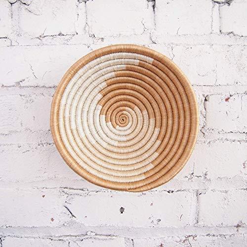 Small African Basket- Sokoke/Rwanda Basket/Woven Bowl/Sisal & Sweetgrass Basket/Tans, White ()