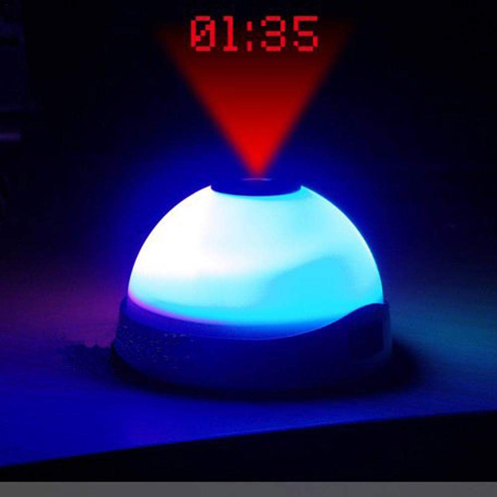 Bouder Magic Colorful Projection Clock LED Clock Upgraded Version Lazy Night Light Projection Clock Hemisphere Starry Sky Light Lamp Alarm Clock