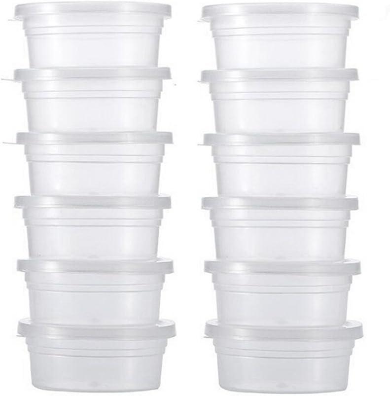 taglia unica plastica Good01 12PCS tazze di plastica con coperchi per palline e Slime Storage Clear