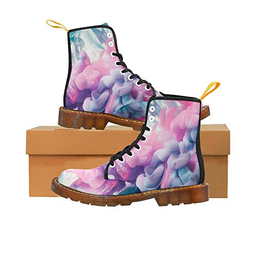 InterestPrint Ink Drop In Water Print Lace Up Boots For Men qUljsGqP