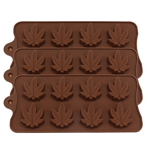 Maple Silicone Candy Mold, Beasea 3 Pack Leaf Mold Silicone Cake Decorating Soap Molds Maple Leaves Fondant Molds Polymer Clay Resin ()
