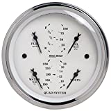 AUTO METER 1612 Old TYME White Quad Gauge