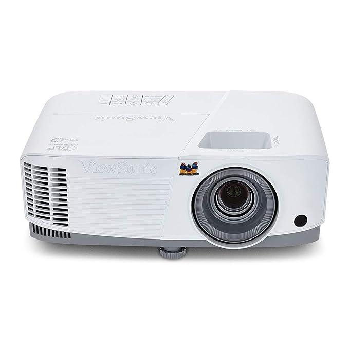 ViewSonic PA503S Proyector SVGA (DLP, 800 x 600, 3.600 ANSI lumens, contraste 22.000:1, HDMI, 2W), color blanco
