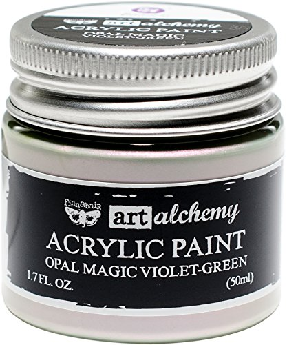 Prima Marketing 963644 Finnabair Art Alchemy Acrylic Paint, 1.7 fl. oz, Opal Magic Violet/Green
