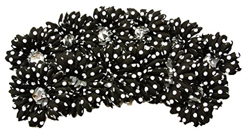 Flower Black Polka (12 Piece - 4