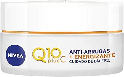 Oferta amazon: NIVEA Q10plusC Anti-Arrugas + Energizante Cuidado de Día (1 x 50 ml), crema energizante con FP15, crema de día antiedad con coenzima Q10, crema facial revitalizante