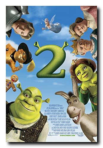 (Shrek 2 Movie Poster 24x36 Inch Wall Art Portrait Print - Mike Myers - Eddie Murphy)
