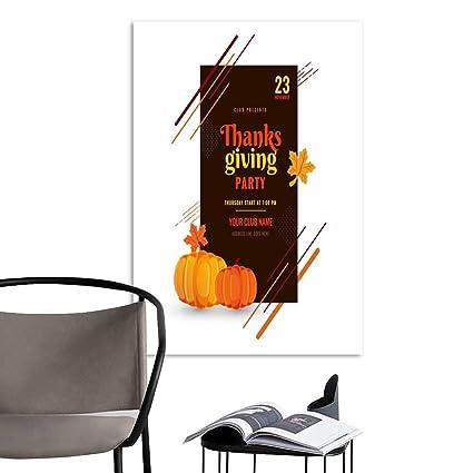 Amazon Com Uhoo Art Print Paintings Modernthanksgiving Day Party
