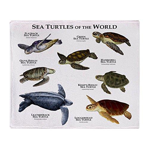 CafePress Sea Turtles of The World Soft Fleece Throw Blanket