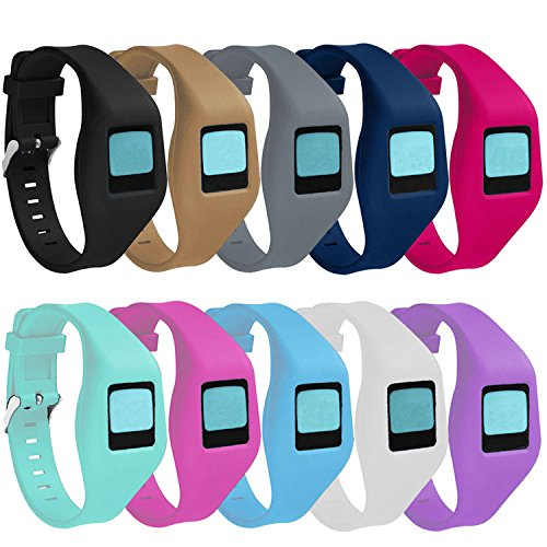 Buckle Bracelet for Fitbit Zip, Replacement Silicone Band with Chrome Watch Clasp and Fastener Buckle for Fitbit Zip