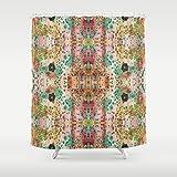 Shabby Chic Shower Curtain. Boho gypsy style bathroom accessories. Add a matching bath mat! Artwork by mixed media artist C.Cambrea.