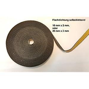Nastro di tenuta autoadesivo, 20 x 2 mm, senza amianto, ideale per vetri di forni e stufe, resistente fino a 550 °C… 9 spesavip