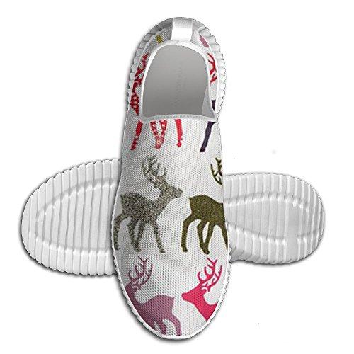 Búfalo Plaid Moose Tenis Zapatillas Classic Unisex Ventilación Senderismo Entrenadores Para Adolescentes Blancos