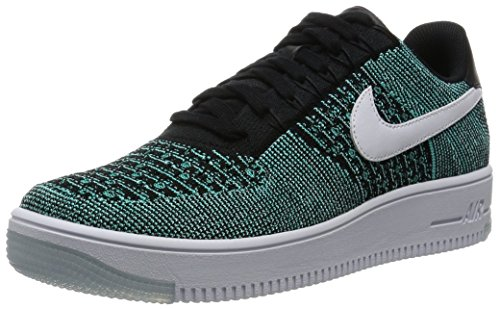 NIKE Men's AF1 Ultra Flyknit Low, Hyper Jade/White-Black-Hyper Turquoise, 11 M US by NIKE