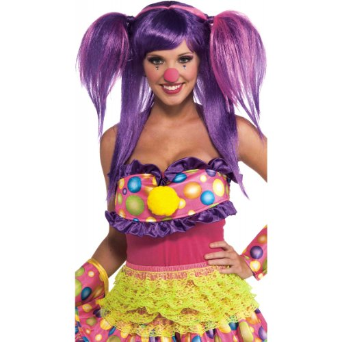 Purple Wig Costume Ideas (Forum Novelties Women's Circus Sweetie Costume Wig, Purple/Pink, One Size)