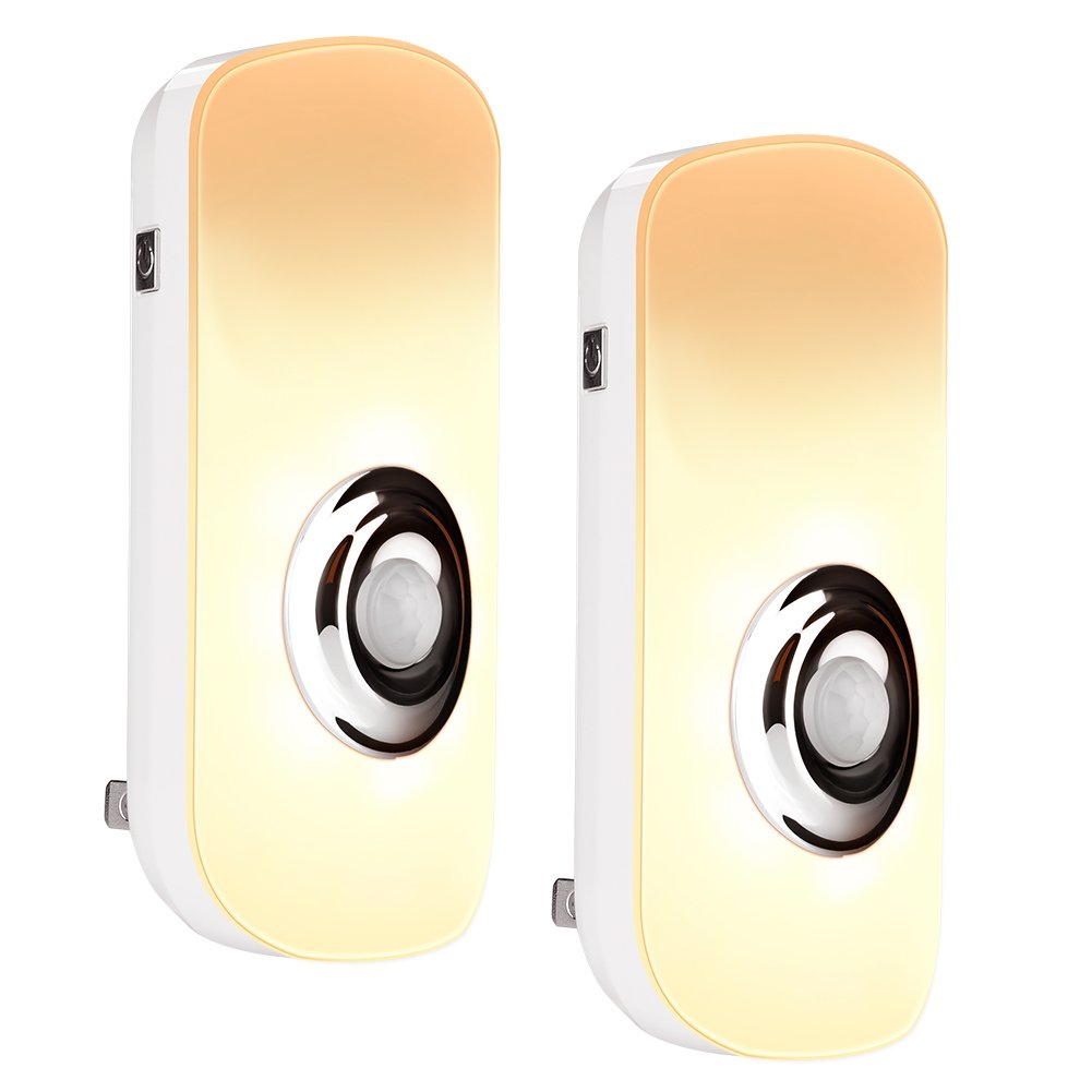 emotionlite 3 - in - 1モーションセンサーLEDナイトライトと懐中電灯緊急ライトウォームホワイト2パック 2 Pack ELN-017-2 B071SFXFZY