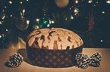 Bakeware Round Deep Paper Baking Mold Size B7-9/32'' x 2--23/64''H Panettone Basso Model PB18560 (396) PB18560