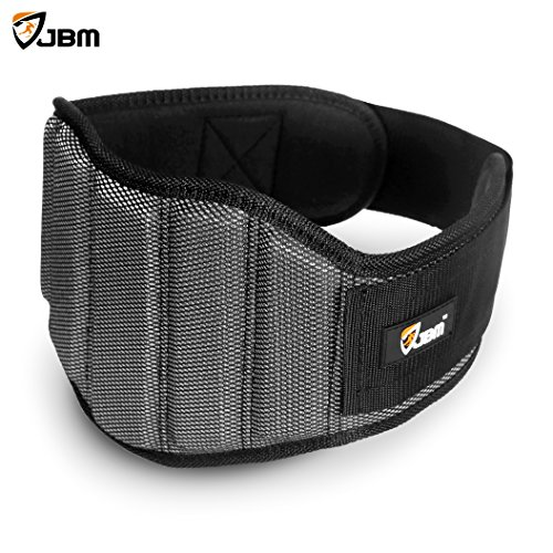 JBM-Weight-Lifting-Belt-3-Size-Gym-Fitness-Crossfit-Bodybuilding-Workout-Belt-Olympic-Lifting-Wraps-Weighted-Dip-Belt-for-Squats-Lunges-Deadlift-Thrusters-Adjustable-with-buckle